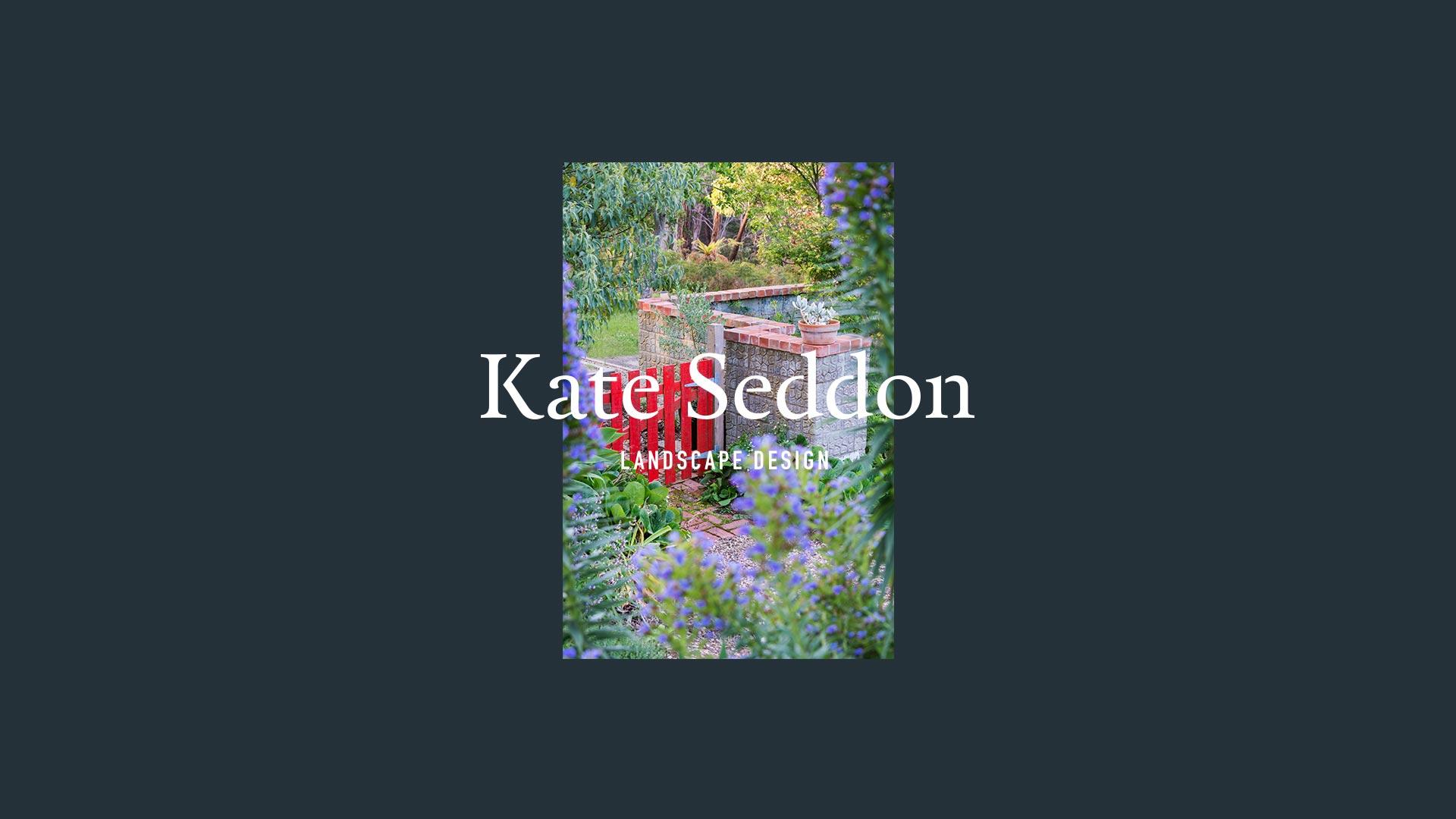 home – coloured gate in greenery